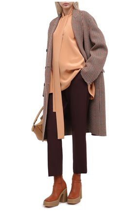 Женские шерстяные брюки JOSEPH бордового цвета, арт. JP000982   Фото 2