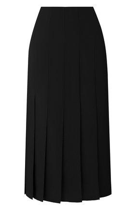 Женская шелковая юбка JOSEPH черного цвета, арт. JF005120 | Фото 1