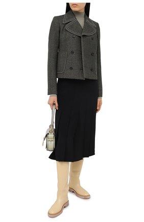Женская шелковая юбка JOSEPH черного цвета, арт. JF005120 | Фото 2