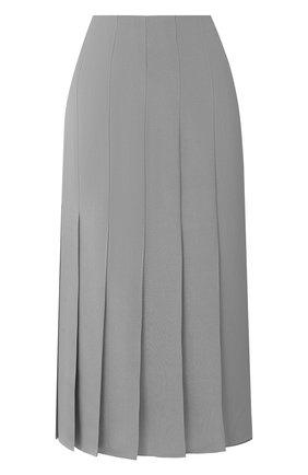 Женская шелковая юбка JOSEPH серого цвета, арт. JF005120 | Фото 1