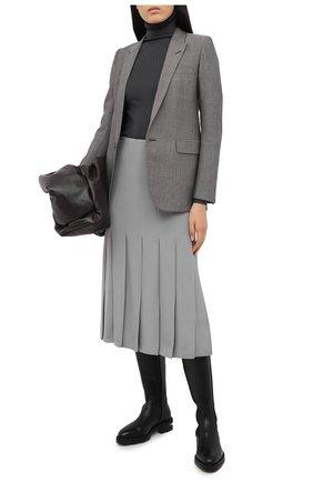 Женская шелковая юбка JOSEPH серого цвета, арт. JF005120 | Фото 2