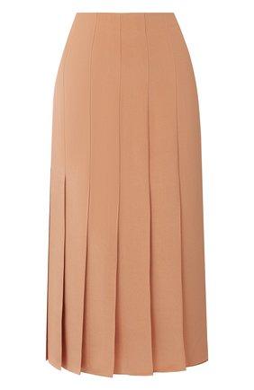 Женская шелковая юбка JOSEPH коричневого цвета, арт. JF005120 | Фото 1
