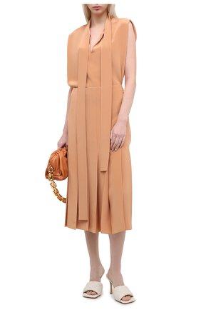 Женская шелковая юбка JOSEPH коричневого цвета, арт. JF005120 | Фото 2