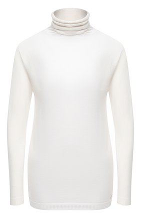 Женская водолазка из кашемира и шелка KITON белого цвета, арт. D50701001 | Фото 1