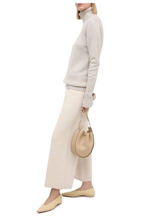 Женский кашемировый свитер KITON бежевого цвета, арт. D48725501 | Фото 2