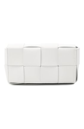 Женская поясная сумка cassette BOTTEGA VENETA белого цвета, арт. 639367/VMAY1 | Фото 1
