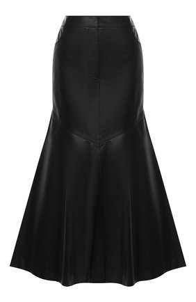 Женская кожаная юбка KENZO черного цвета, арт. FA62WJU047AD | Фото 1