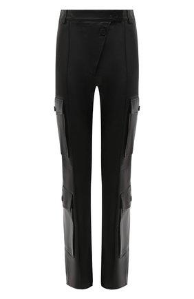 Женские кожаные брюки KENZO черного цвета, арт. FA62WPA097AD | Фото 1