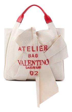 Женский сумка-шопер valentino garavani atelier VALENTINO бежевого цвета, арт. UW0B0H95/SVJ | Фото 1