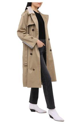 Женские джинсы 3X1 серого цвета, арт. WP0370966/DEMAR | Фото 2
