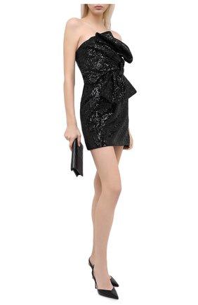 Женское платье с пайетками GIUSEPPE DI MORABITO черного цвета, арт. PF20124DR-104 | Фото 2