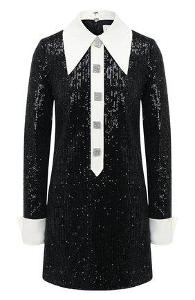 Женское платье с пайетками GIUSEPPE DI MORABITO черного цвета, арт. PF20142DR-104 | Фото 1