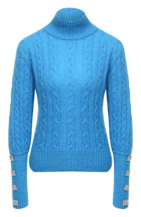 Женский шерстяной свитер GIUSEPPE DI MORABITO бирюзового цвета, арт. PF20042KN-130 | Фото 1