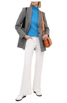 Женский шерстяной свитер GIUSEPPE DI MORABITO бирюзового цвета, арт. PF20042KN-130 | Фото 2