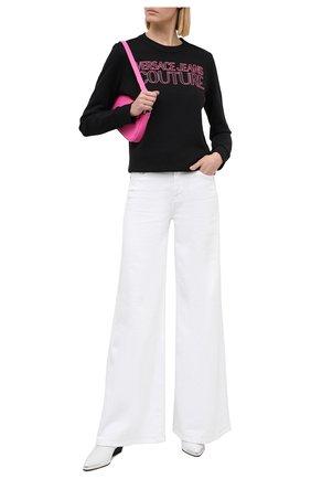 Женская хлопковый свитшот VERSACE JEANS COUTURE черного цвета, арт. B6HZA7KP-ZDP309 REG. 51/30328 | Фото 2
