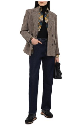 Женские кожаные кроссовки SALVATORE FERRAGAMO черного цвета, арт. Z-07368801C   Фото 2