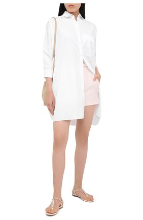Женские кожаные сандалии vara SALVATORE FERRAGAMO белого цвета, арт. Z-07300621C | Фото 2