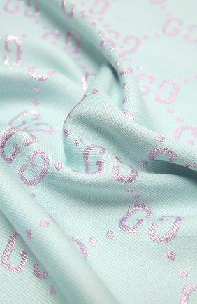 Детский платок GUCCI розового цвета, арт. 574742/4K721 | Фото 2