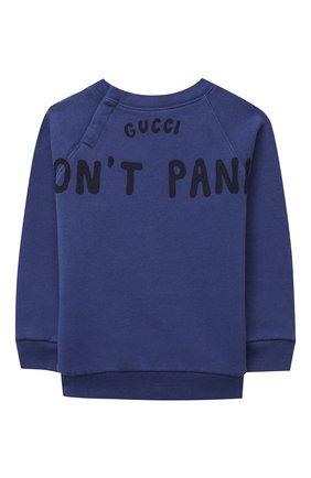 Детский хлопковый свитшот GUCCI синего цвета, арт. 627966/XJCQK | Фото 2