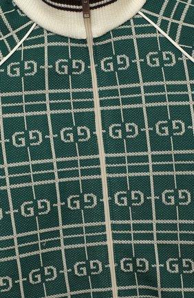 Детский хлопковая толстовка GUCCI зеленого цвета, арт. 626306/XJCPK   Фото 3