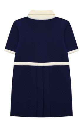 Женский шерстяное платье GUCCI синего цвета, арт. 621871/XKBGW   Фото 2