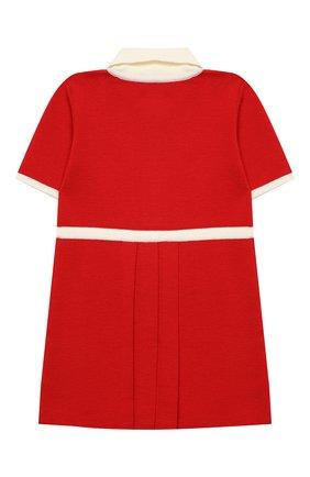 Женский шерстяное платье GUCCI красного цвета, арт. 621871/XKBGW | Фото 2