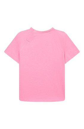 Детский хлопковая футболка GUCCI розового цвета, арт. 600123/XJCSX | Фото 2