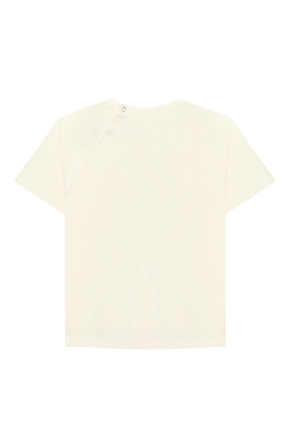 Детский хлопковая футболка GUCCI бежевого цвета, арт. 600123/XJCSX | Фото 2