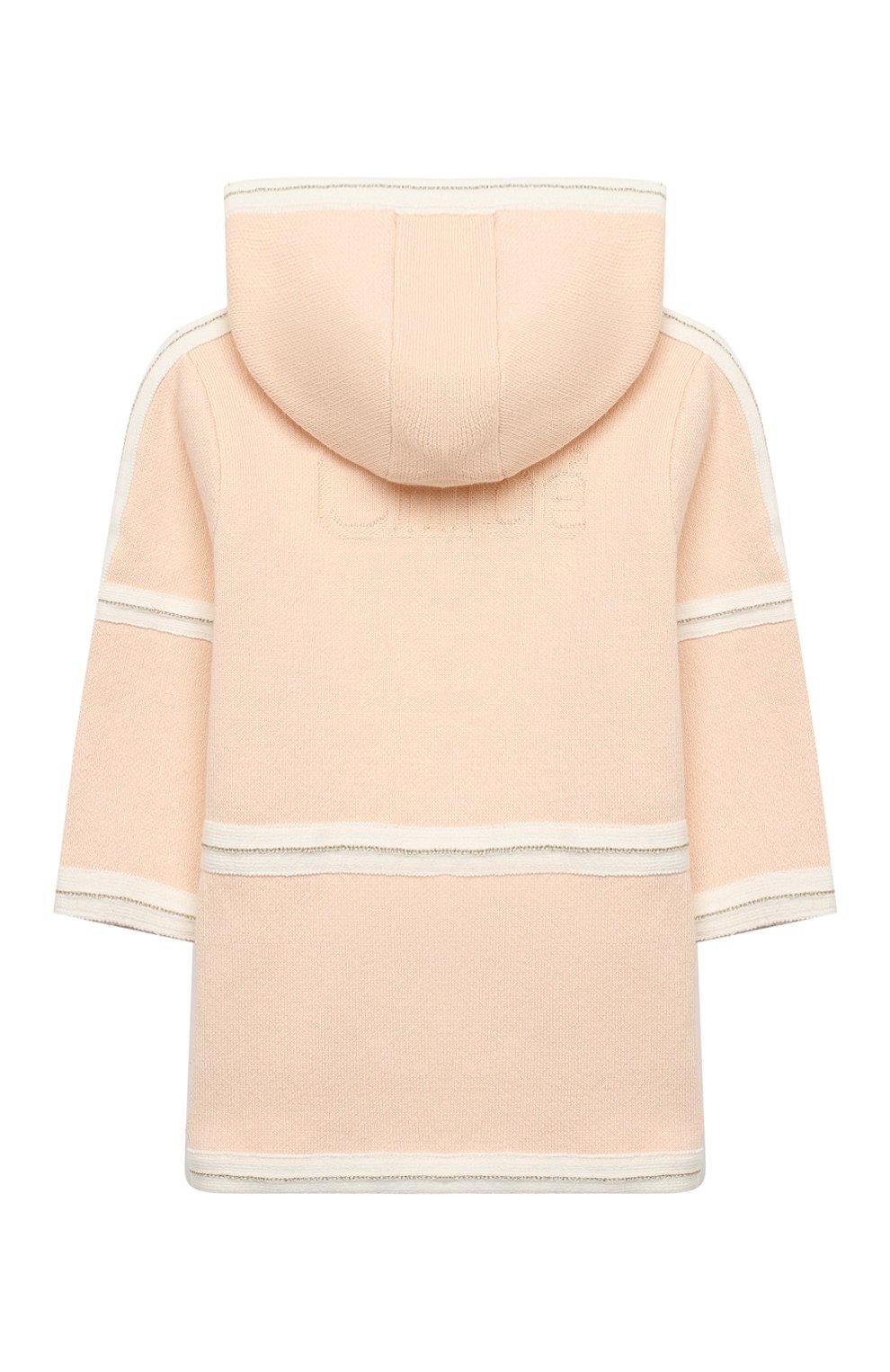 Детского хлопковое пальто CHLOÉ светло-розового цвета, арт. C06105 | Фото 2