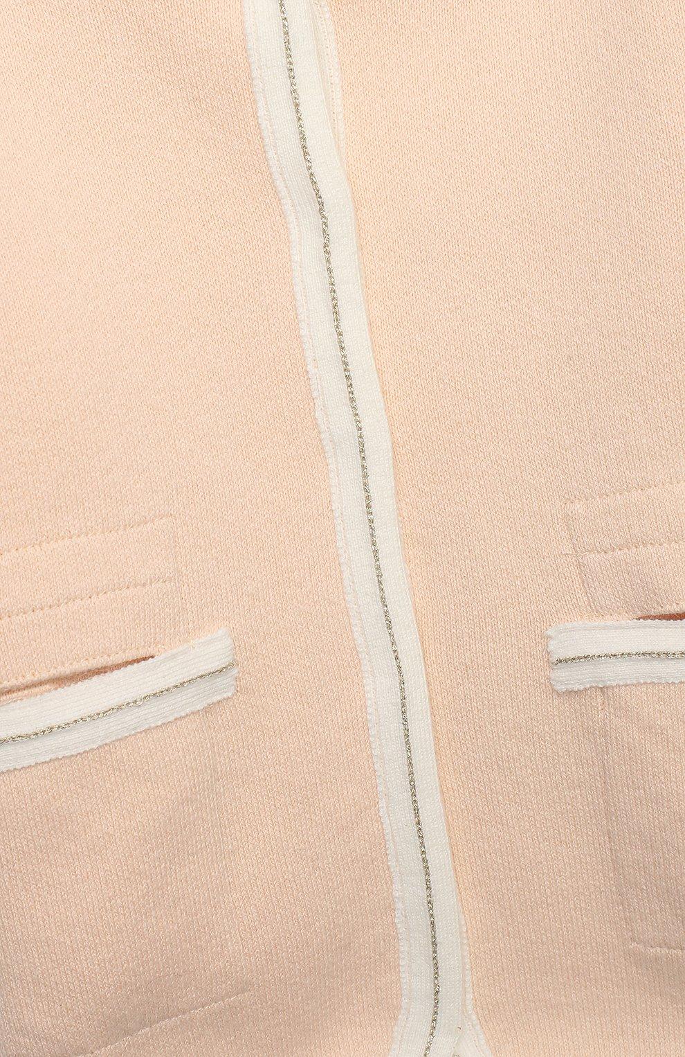 Детского хлопковое пальто CHLOÉ светло-розового цвета, арт. C06105 | Фото 3