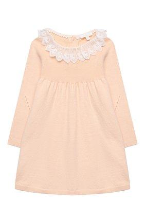 Женский хлопковое платье CHLOÉ светло-розового цвета, арт. C02274 | Фото 1