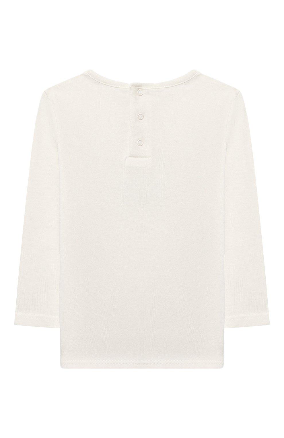 Детский хлопковый лонгслив CHLOÉ белого цвета, арт. C05345 | Фото 2