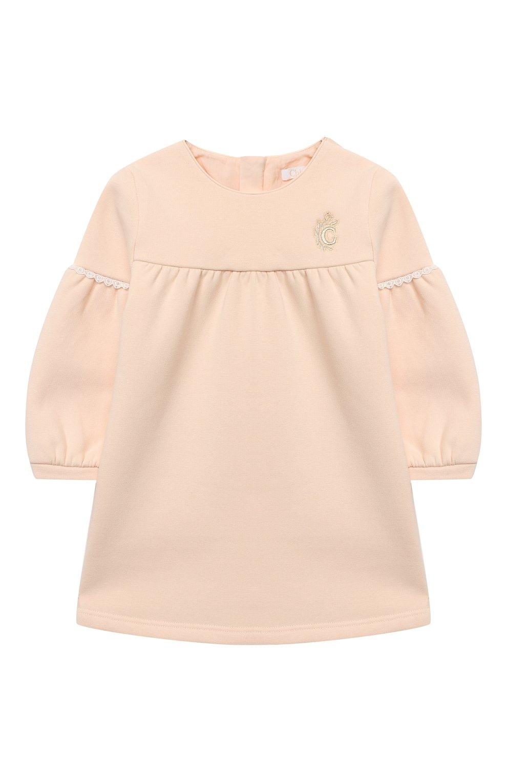 Женский хлопковое платье CHLOÉ светло-розового цвета, арт. C02273   Фото 1