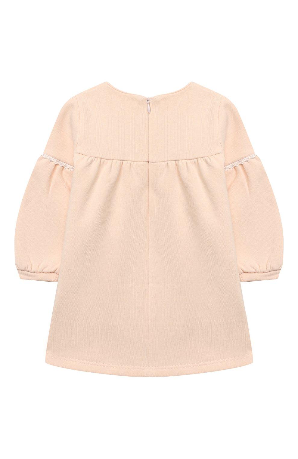 Женский хлопковое платье CHLOÉ светло-розового цвета, арт. C02273   Фото 2