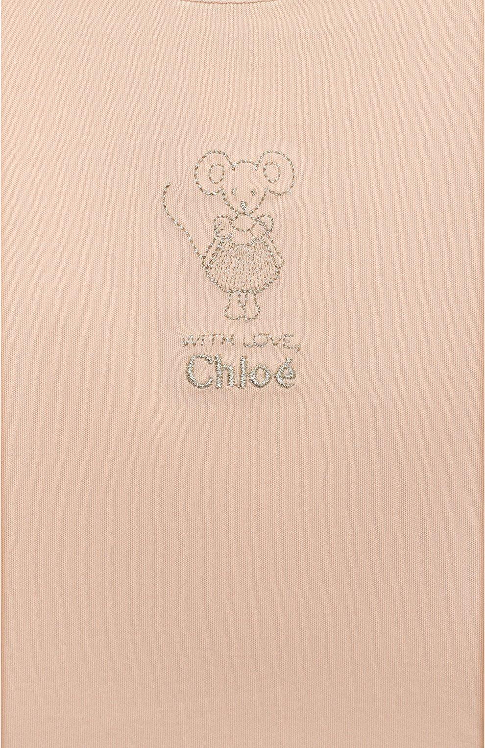 Детский комплект из трех вещей CHLOÉ белого цвета, арт. C9K194 | Фото 6