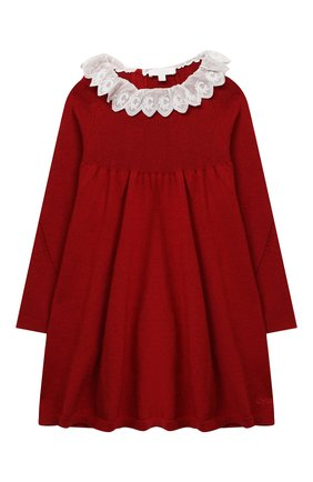 Женский хлопковое платье CHLOÉ красного цвета, арт. C02274 | Фото 1