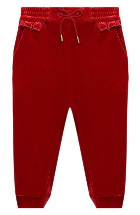 Детские джоггеры CHLOÉ красного цвета, арт. C04175 | Фото 1