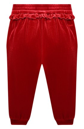 Детские джоггеры CHLOÉ красного цвета, арт. C04175 | Фото 2