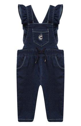 Детский джинсовый комбинезон CHLOÉ синего цвета, арт. C04176 | Фото 1