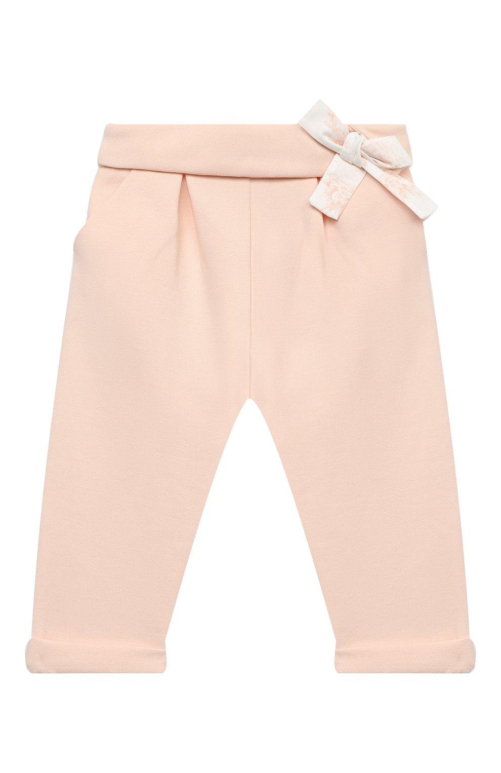 Детские брюки CHLOÉ светло-розового цвета, арт. C04172 | Фото 1