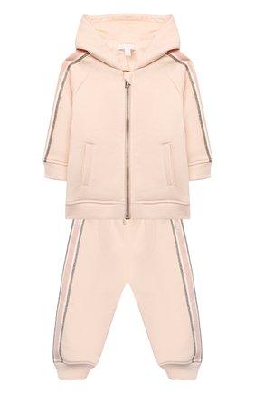 Детский комплект из толстовки и брюк CHLOÉ светло-розового цвета, арт. C08034 | Фото 1