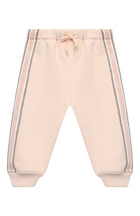 Детский комплект из толстовки и брюк CHLOÉ светло-розового цвета, арт. C08034 | Фото 4