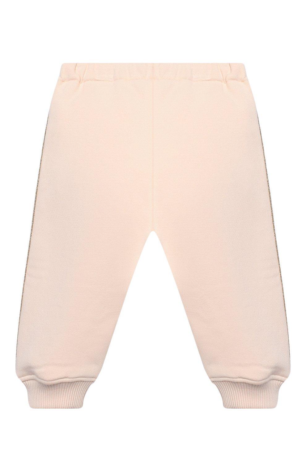 Детский комплект из толстовки и брюк CHLOÉ светло-розового цвета, арт. C08034 | Фото 5