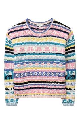 Детский хлопковый пуловер LANVIN разноцветного цвета, арт. N15007 | Фото 1