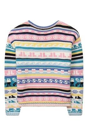 Детский хлопковый пуловер LANVIN разноцветного цвета, арт. N15007 | Фото 2