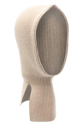 Детского кашемировая шапка-балаклава BRUNELLO CUCINELLI бежевого цвета, арт. B22M90004A | Фото 1