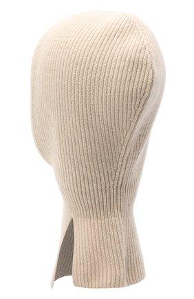 Детского кашемировая шапка-балаклава BRUNELLO CUCINELLI бежевого цвета, арт. B22M90004A | Фото 2