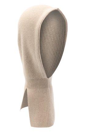 Детского кашемировая шапка-балаклава BRUNELLO CUCINELLI бежевого цвета, арт. B22M90004B | Фото 1