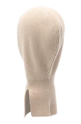 Детского кашемировая шапка-балаклава BRUNELLO CUCINELLI бежевого цвета, арт. B22M90004B | Фото 2