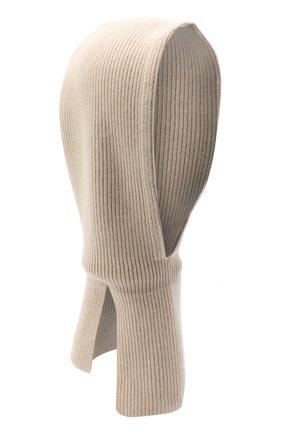 Детского кашемировая шапка-балаклава BRUNELLO CUCINELLI бежевого цвета, арт. B22M90004C | Фото 1